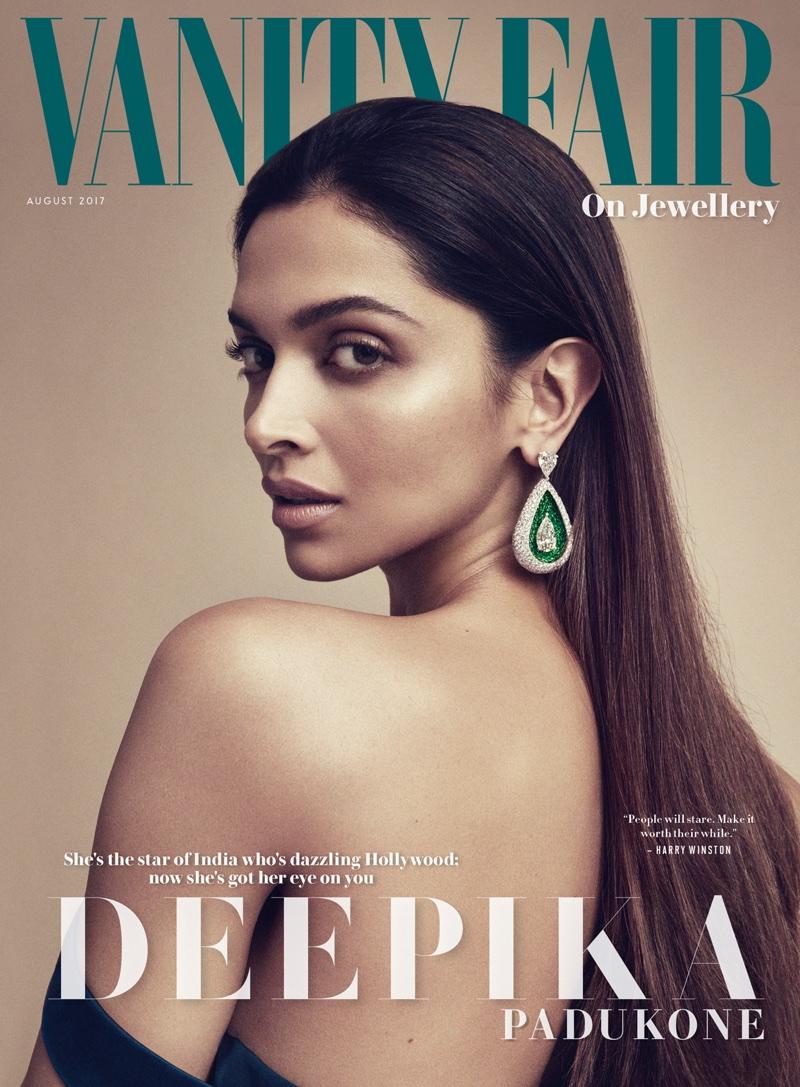 Deepika Padukone on Vanity Fair on Jewellery August 2017 Cover