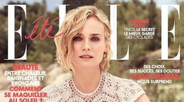 Diane Kruger Poses in Summertime Fashions for ELLE France