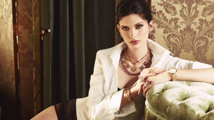 Giulia Manini sparkles in Dolce & Gabbana's latest Jewellery campaign