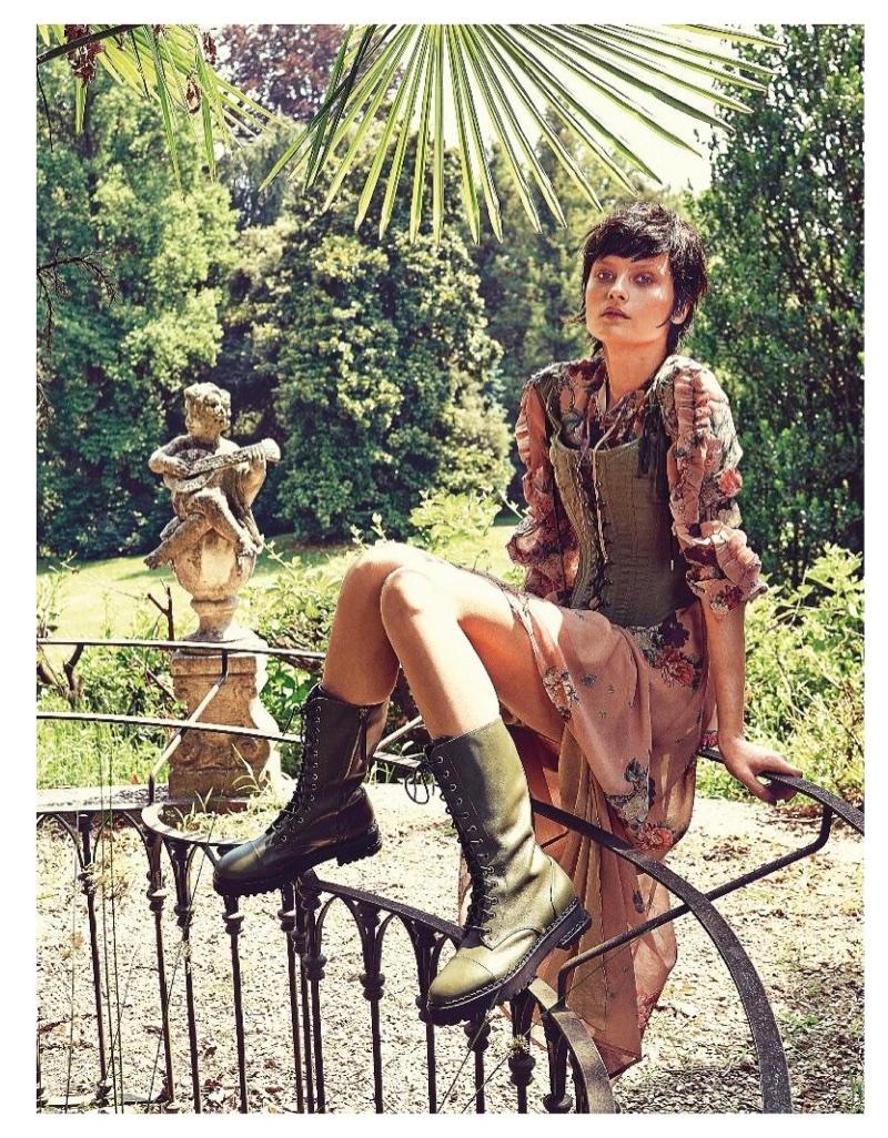 Elena Melnik Models Dreamy Dresses in Grazia Italy