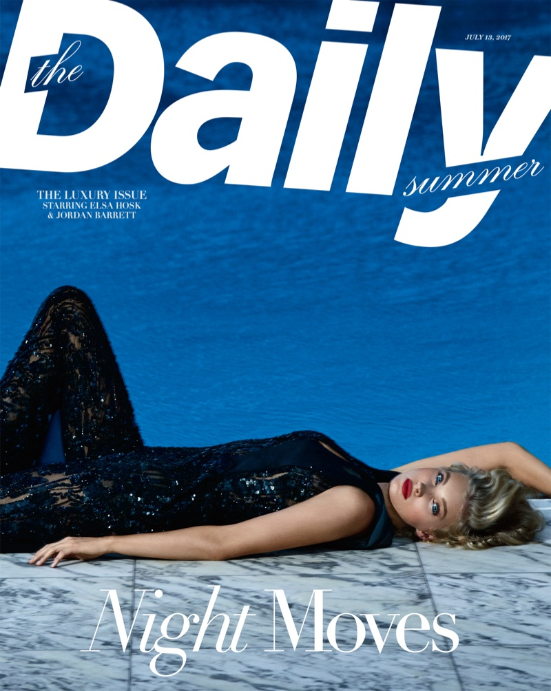 Elsa Hosk Turns Up the Glam Factor in The Daily Summer