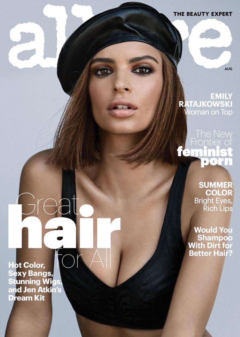 Emily Ratajkowski Models Transformative Beauty Looks in Allure Cover Story