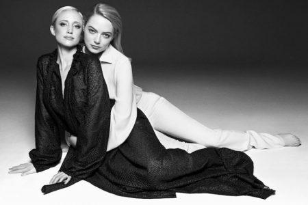 Emma Stone & Andrea Riseborough Suit Up for OUT Magazine