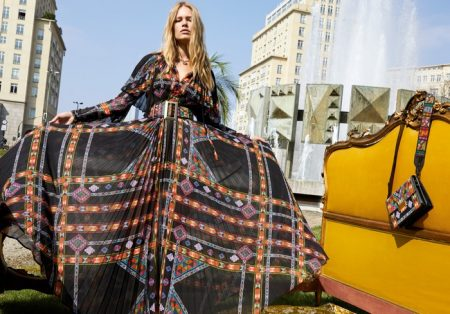 Anna Ewers Looks Bohemian Glam in Etro's Fall 2017 Campaign