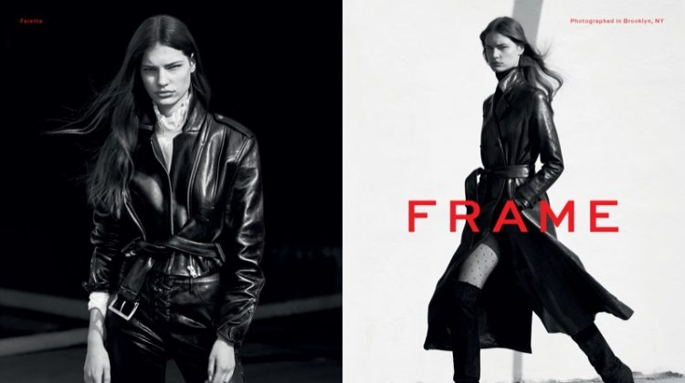 Faretta stars in FRAME's fall-winter 2017 campaign