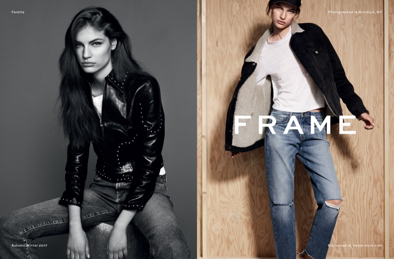 An image from FRAME's fall 2017 advertising campaign
