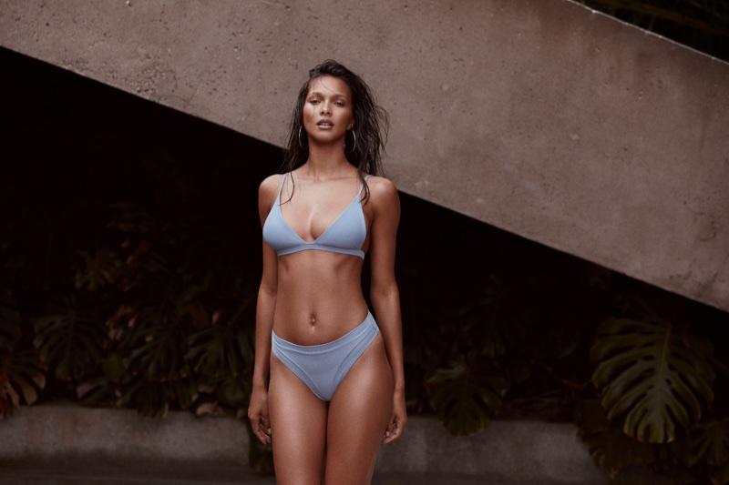 Lais Ribeiro poses for Fae Swimwear