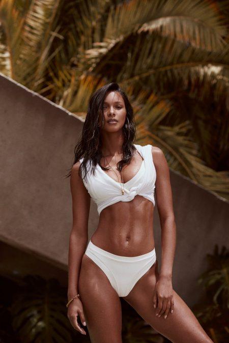 Lais Ribeiro Smolders in Fae Swimwear's Summer Campaign
