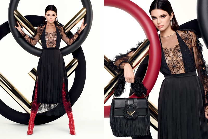 An image from Fendi's fall 2017 advertising campaign starring Kendall Jenner