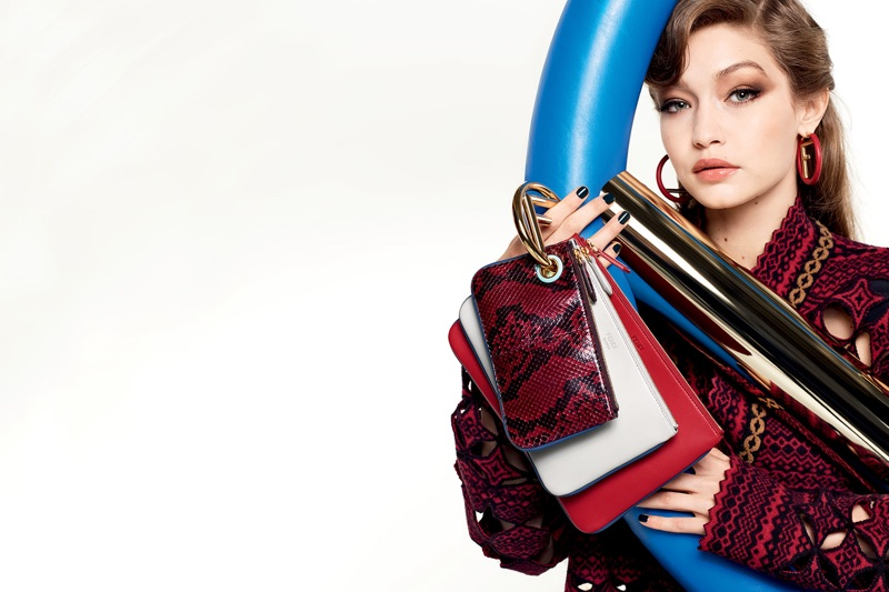 Karl Lagerfeld photographs Gigi Hadid for Fendi's fall-winter 2017 campaign