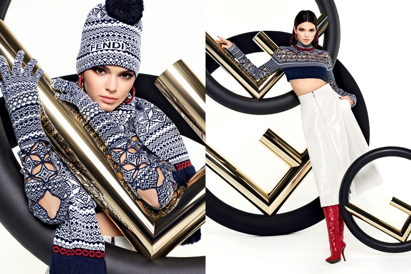 Kendall Jenner stars in Fendi's fall-winter 2017 campaign