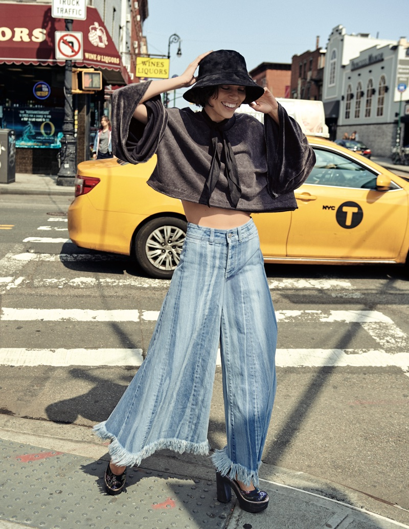 eba547299cf8a Free People Mickey Vegan Bucket Hat, Sleeve Glorious Sleeves Pullover and  Run Through The Moss