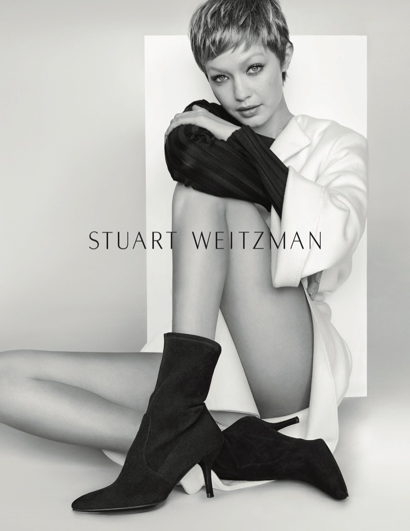 Gigi Hadid stars in Stuart Weitzman's fall-winter 2017 campaign