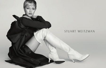 Gigi Hadid Rocks a Pixie Cut in Stuart Weitzman's Fall 2017 Campaign