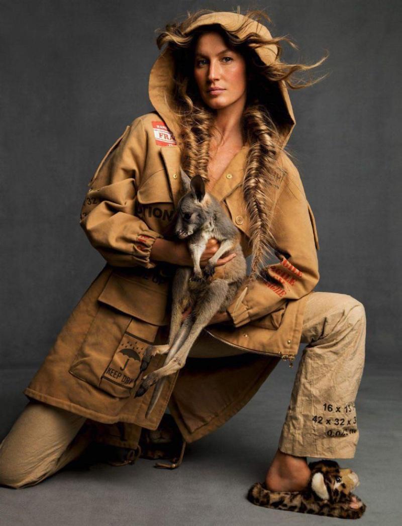 Gisele Bundchen Looks Ultra-Luxe in Faux Fur for Vogue ...