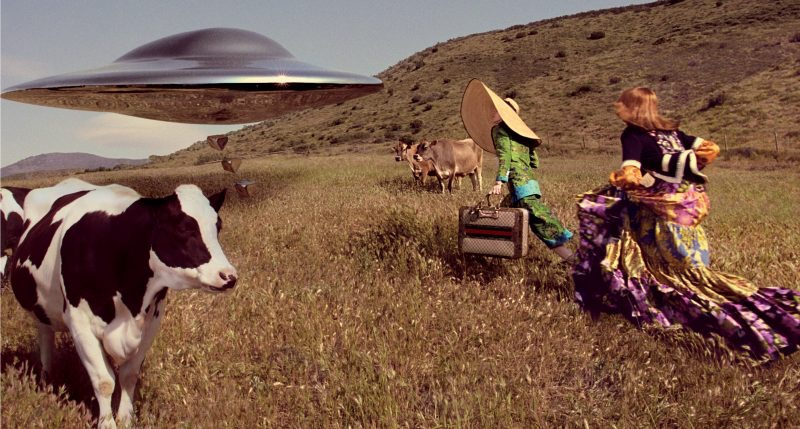 An UFO lands in Gucci's fall-winter 2017 campaign