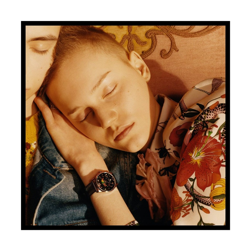Lina Hoss appears in Gucci Timepieces spring-summer 2017 campaign