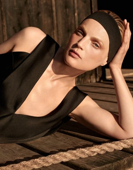 Guinevere van Seenus Wears All-Black Looks for The Edit