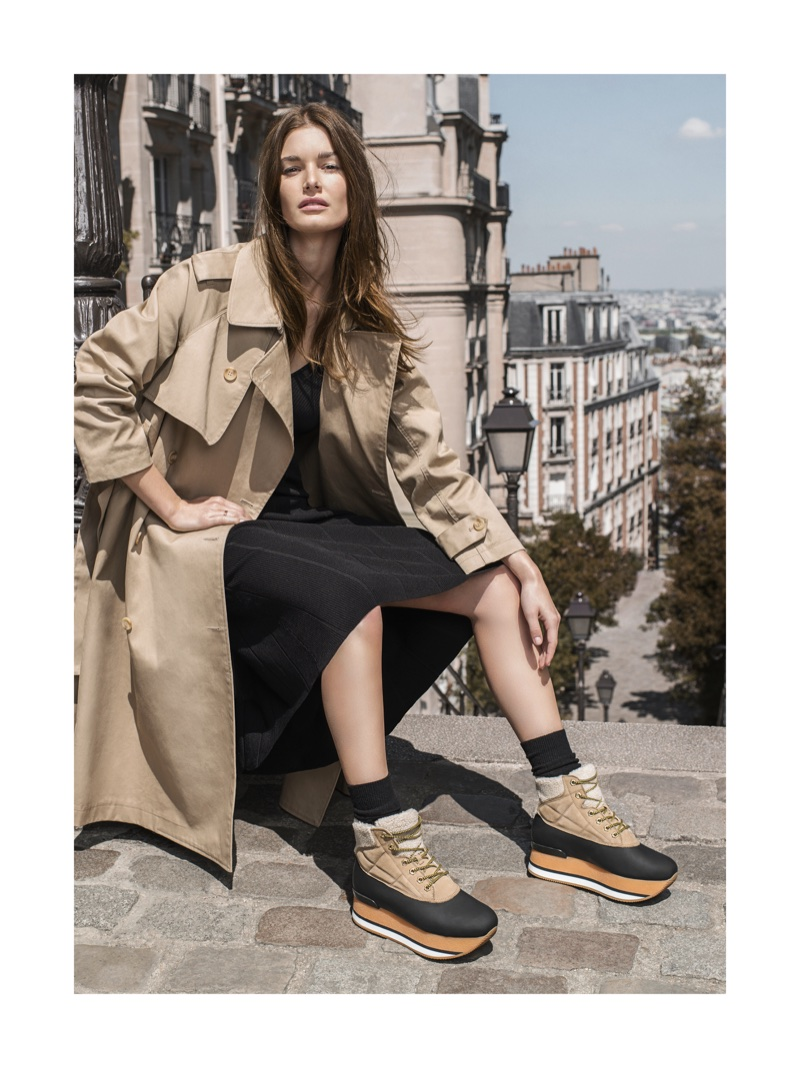 Ophelie Guillermand fronts Hogan's fall-winter 2017 campaign
