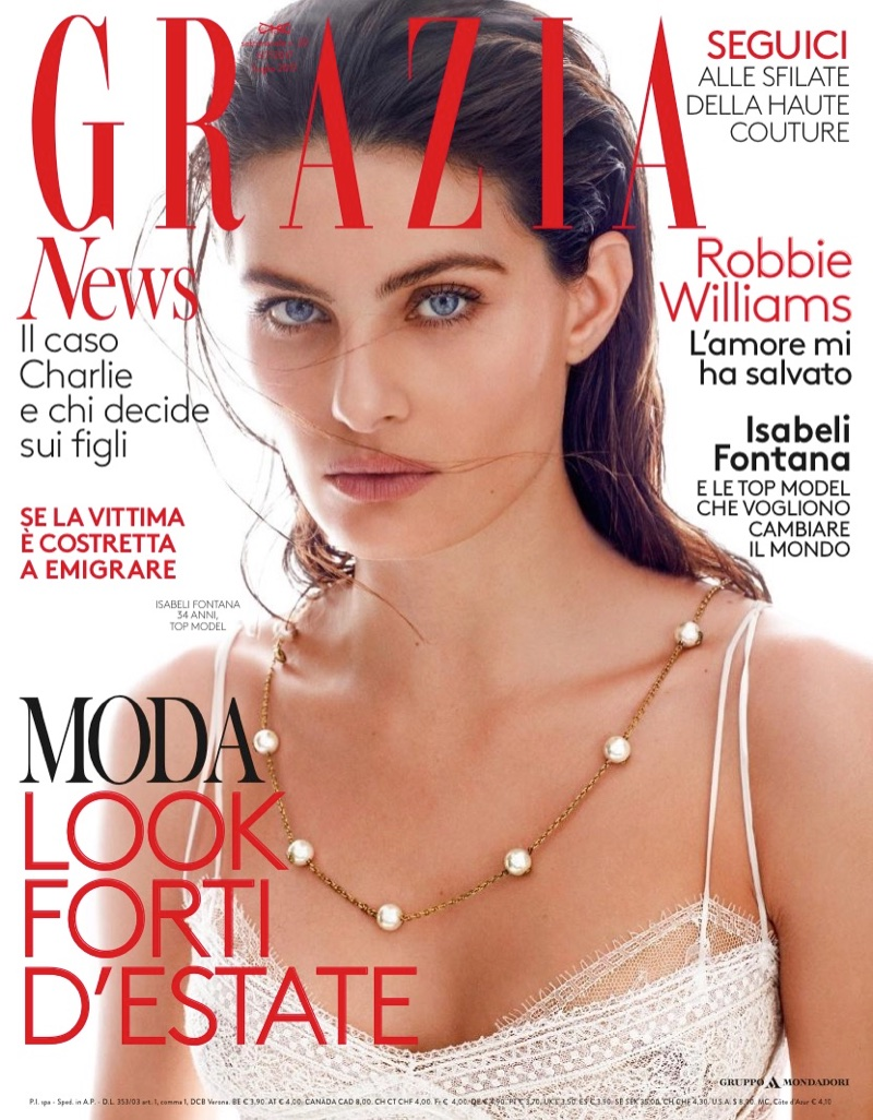 Isabeli Fontana Poses in Statement Looks for Grazia Italy