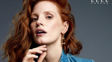 Jessica Chastain Wears Denim Looks in ELLE Canada Cover Story