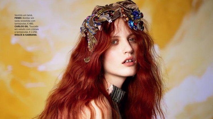 Julia Banas Models Romantic Styles for Vogue Portugal
