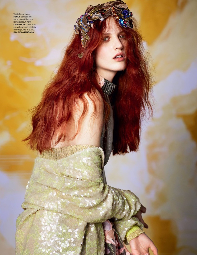 Julia Banas Models Romantic Styles for Vogue Portugal