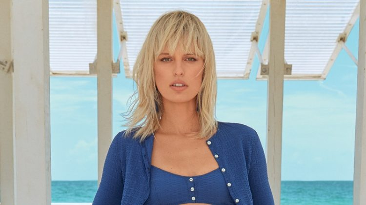 Karolina Kurkova Poses in Beach-Ready Fashions for Hamptons Magazine