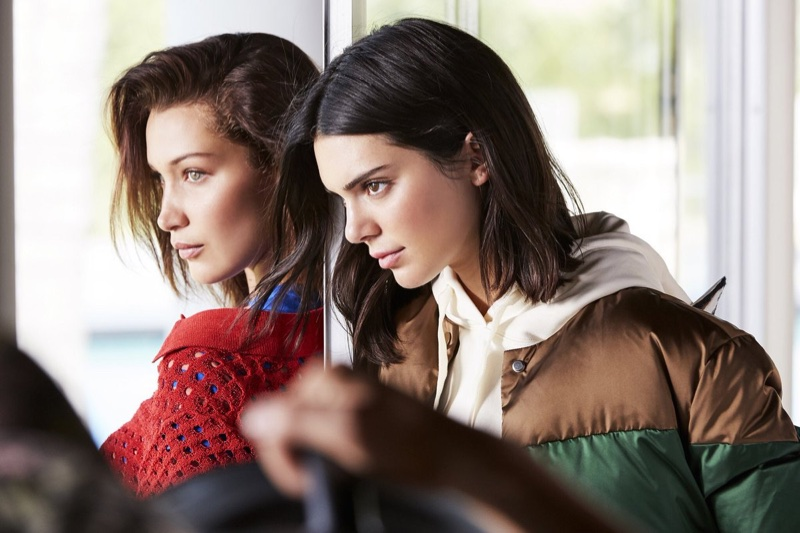 Kendall Jenner and Bella Hadid behind-the-scenes on campaign shoot