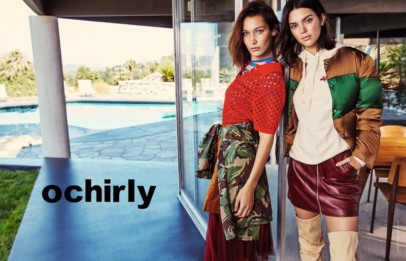 Bella Hadid and Kendall Jenner wear cool girl looks for Ochirly's fall 2017 campaign
