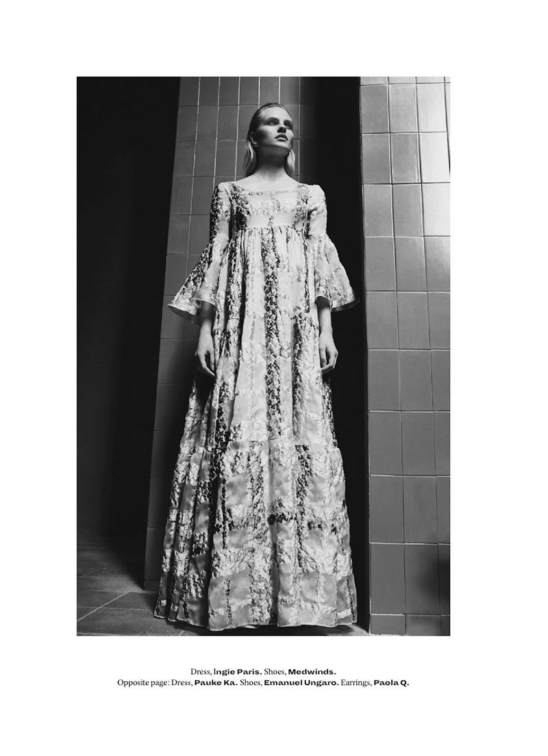 Kristina Petrosiute Models Chic Florals in L'Officiel Middle East