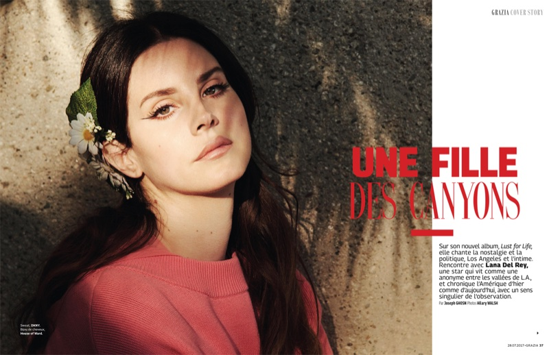 Lana Del Rey Poses In Dreamy Dresses For Grazia France Fashion Gone Rogue