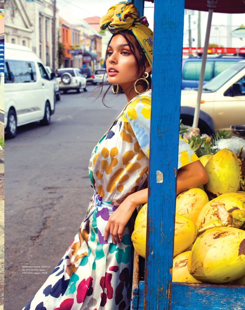 Livia Rangel is a Tropical Beauty in ELLE Kazakhstan