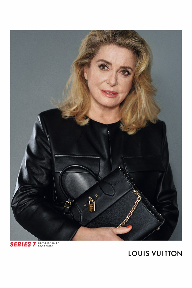 Actress Catherine Deneuve fronts Louis Vuitton's fall 2017 advertising campaign