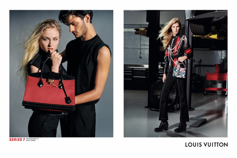 Sophie Turner and Santiago Robledo front Louis Vuitton's fall-winter 2017 campaign