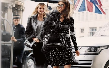 Taylor Hill & Romee Strijd Take London in MICHAEL Michael Kors' Fall 2017 Ads