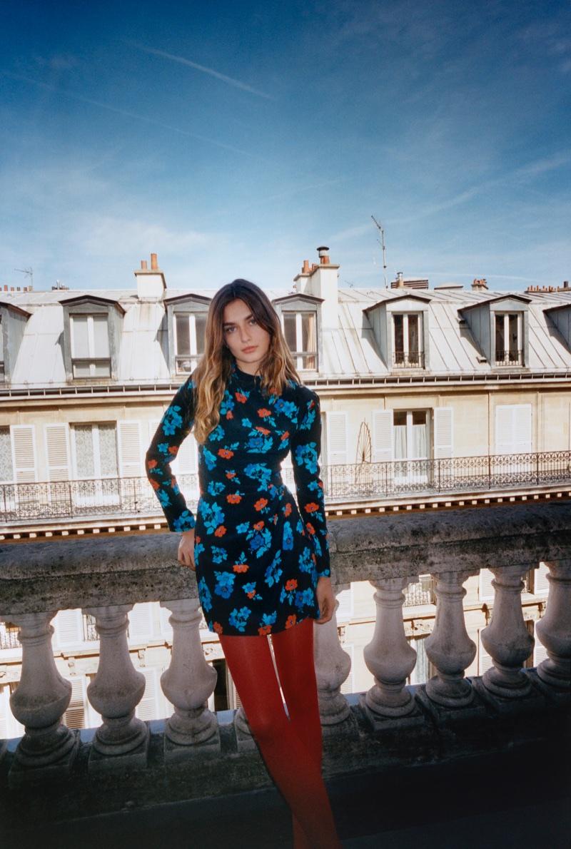 Andreea Diaconu stars in Maje's fall-winter 2017 campaign