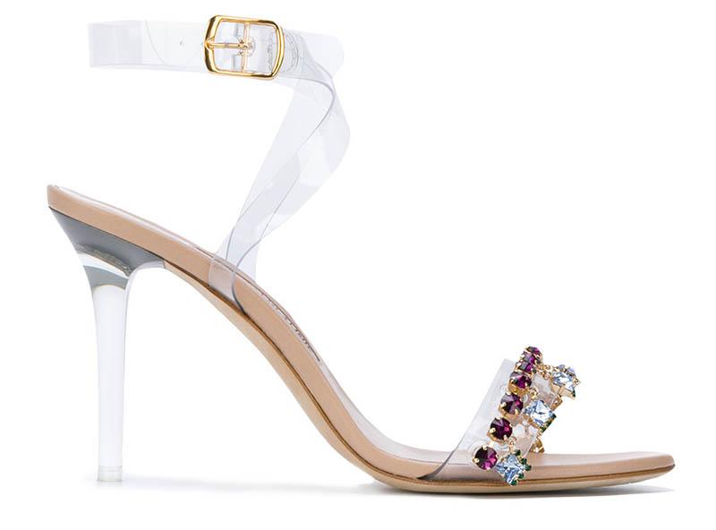 Manolo Blahnik x Rihanna Purple Chalice Sandals $1,325