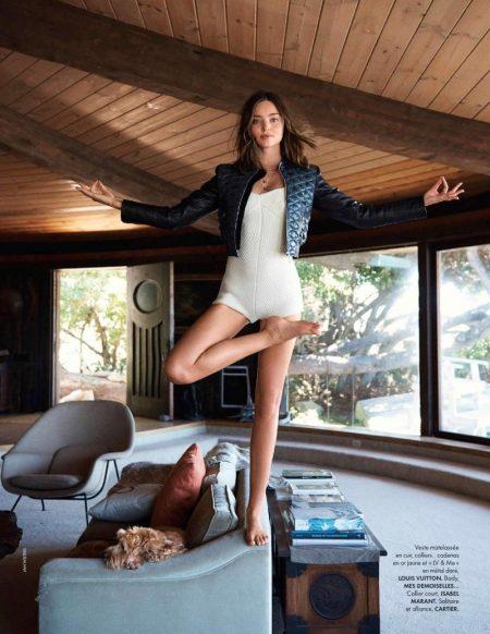 Miranda Kerr Shows Off Her Yoga Moves for ELLE France