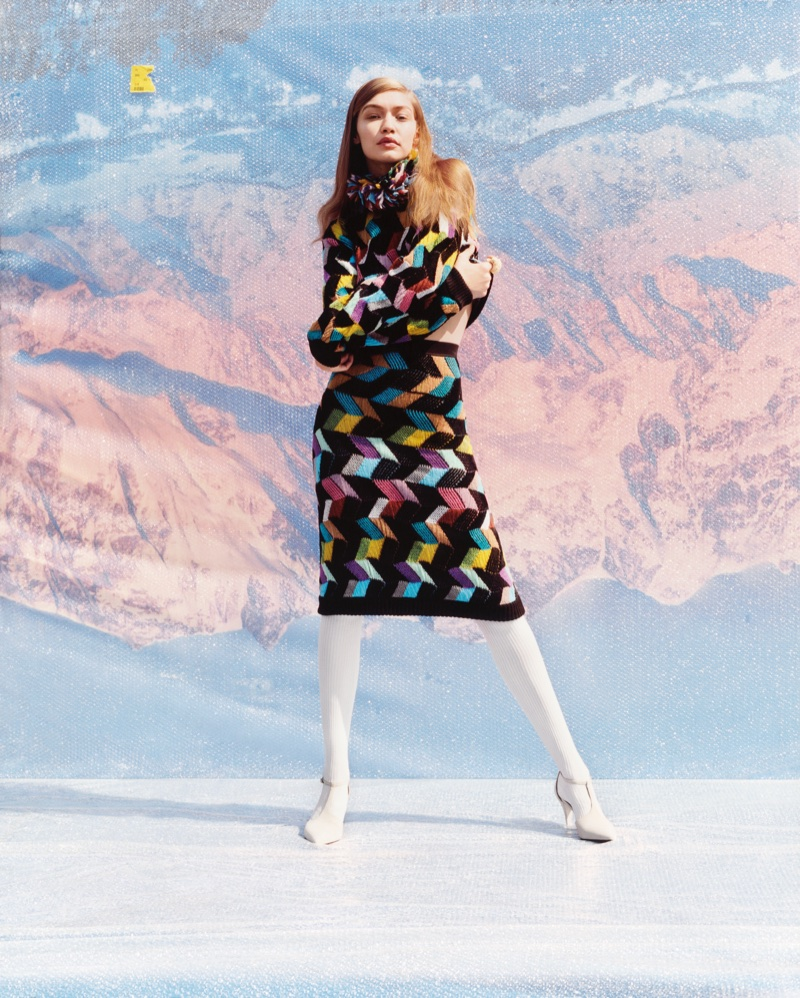 Gigi Hadid poses in Italy for Missoni's fall-winter 2017 campaign