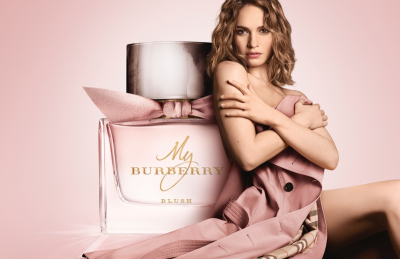 Lily James fronts My Burberry Blush fragrance campaign