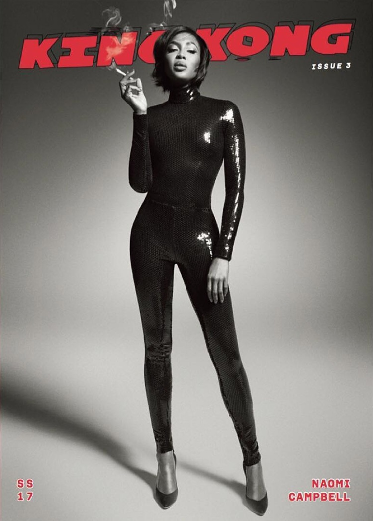 Naomi Campbell Stuns in Black & White for King Kong Magazine