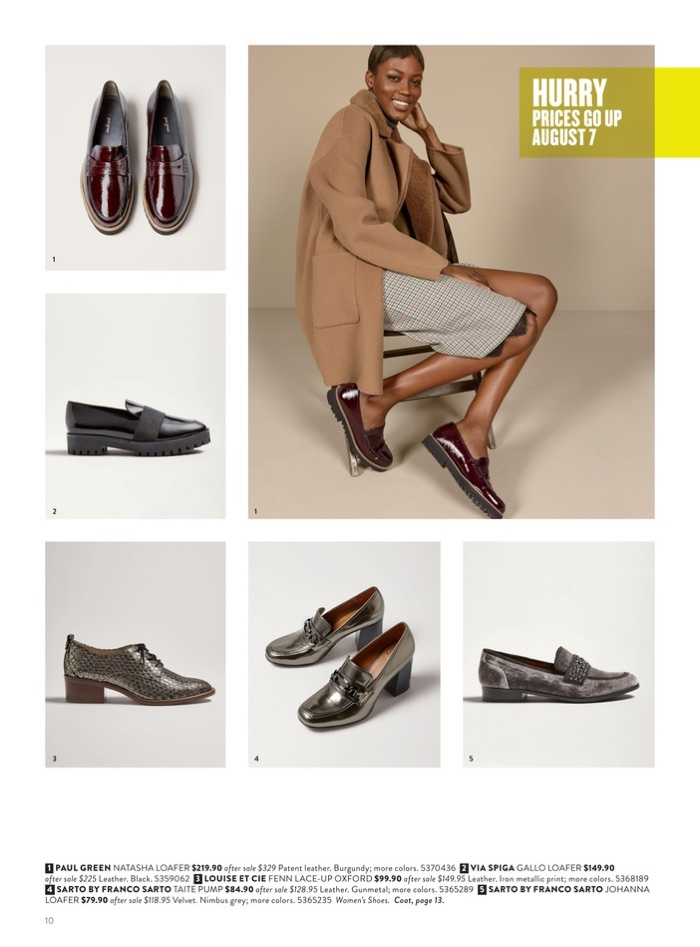 1. Paul Green Natasha Loafer 2. Via Spiga Gallo Loafer 3. Louise et Cie Fenn Lace-Up Oxford 4. Sarto by Franco Sarto Taite Pump 5. Sarto by Franco Sarto Johanna Loafer