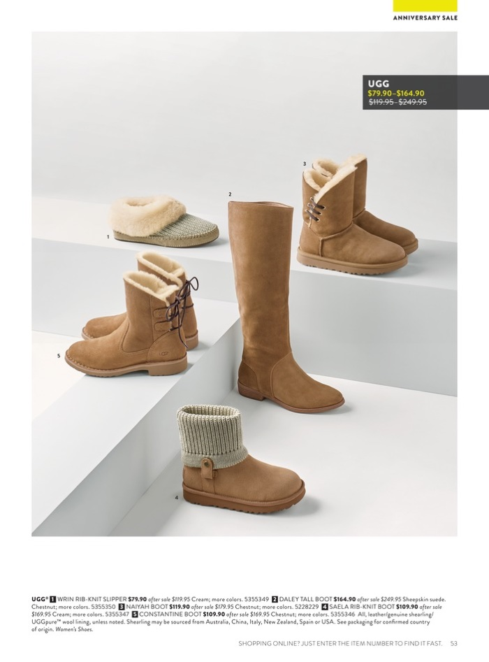 Nordstrom 2017 Anniversary Sale Catalogue Women\'s Shoes