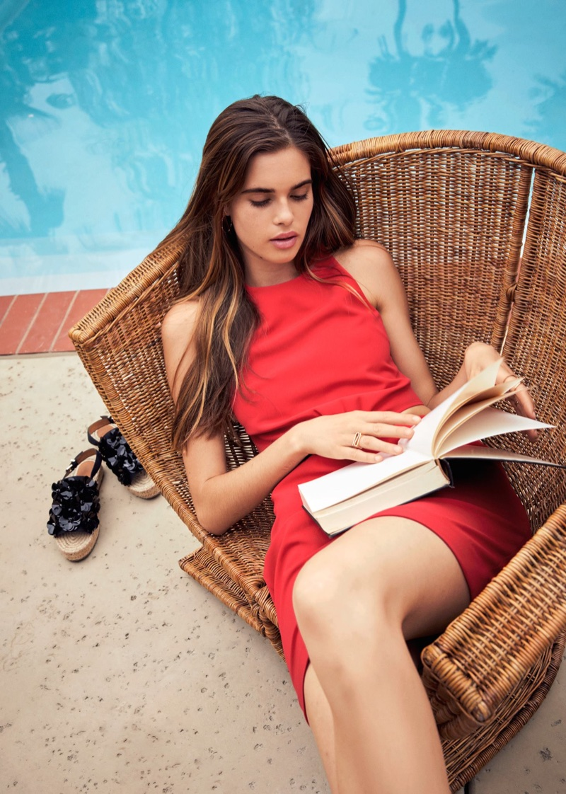 & Other Stories Cut-Out Mini Dress and Embellished Espadrille Sandals
