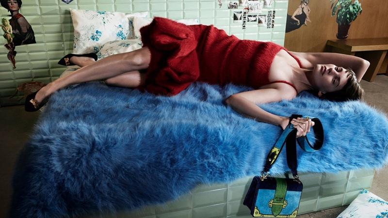 Amanda Murphy stars in Prada's Pièce de Chambre fall-winter 2017 canpaign