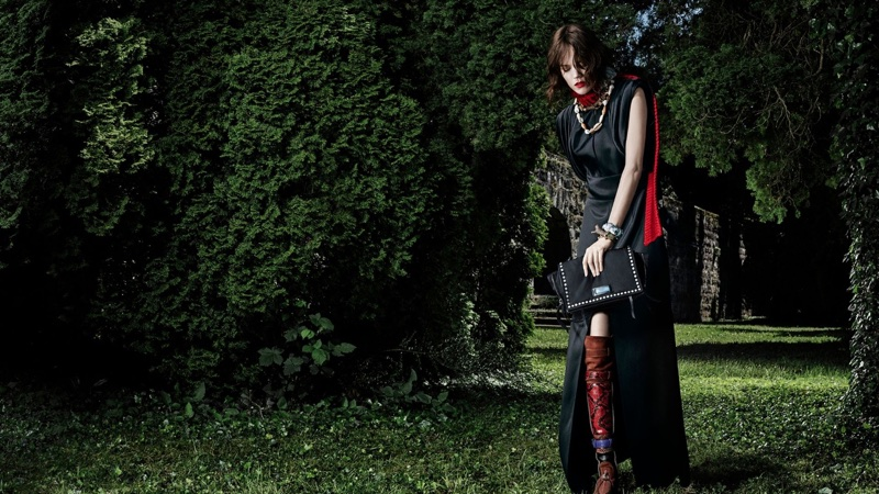Freja Beha Erichsen fronts Prada Chiaroscuro fall-winter 2017 campaign