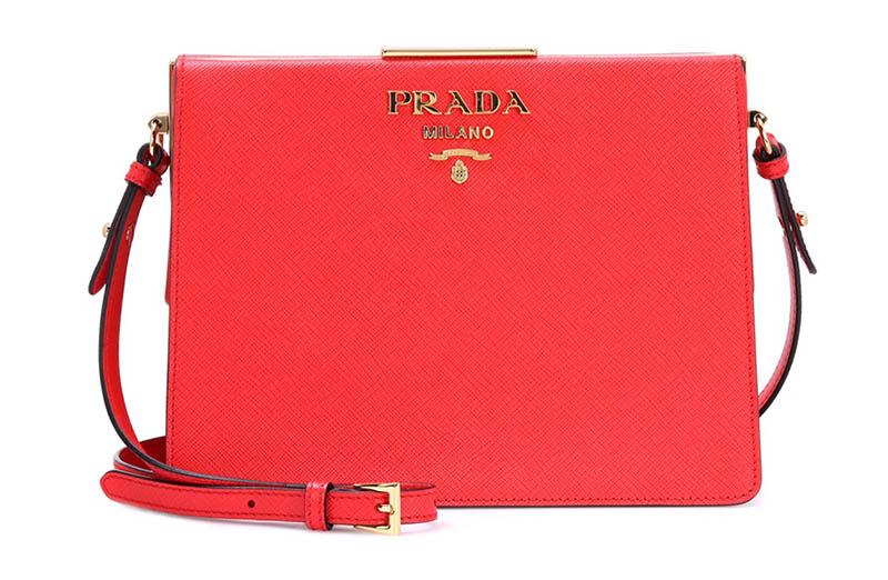 Prada Saffiano Leather Shoulder Bag $1,970