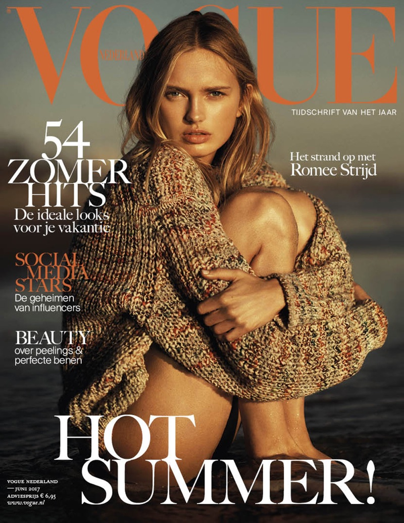 Romee Strijd Enchants at the Beach for Vogue Netherlands