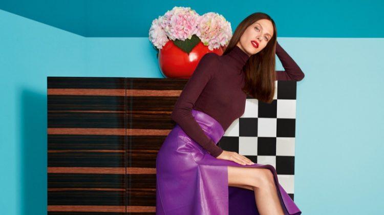 Aymeline Valade stars in Salvatore Ferragamo's fall-winter 2017 campaign